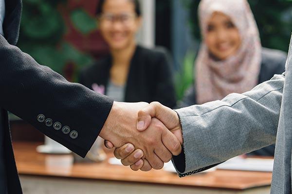 A firm handshake