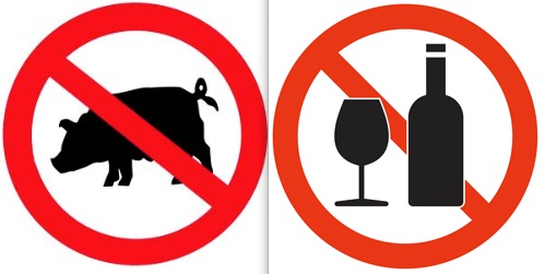 No to pork and alcohol