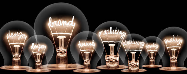 Light bulbs with powerful words